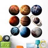 Hight Quality Solar System Wall Decal by Wallmonkeys Peel and Stick Graphic (48 in H x 48 in W) WM363131