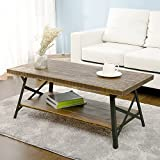 Wood and Metal Coffee Table Harper&Bright Designs 43