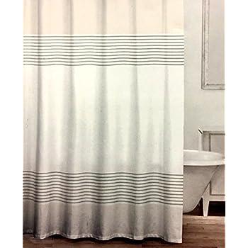 light gray shower curtain. CARO Home Fabric Shower Curtain Wide Light Gray White and Metallic Silver  Grey Stripes Amazon com Caro Aqua Green