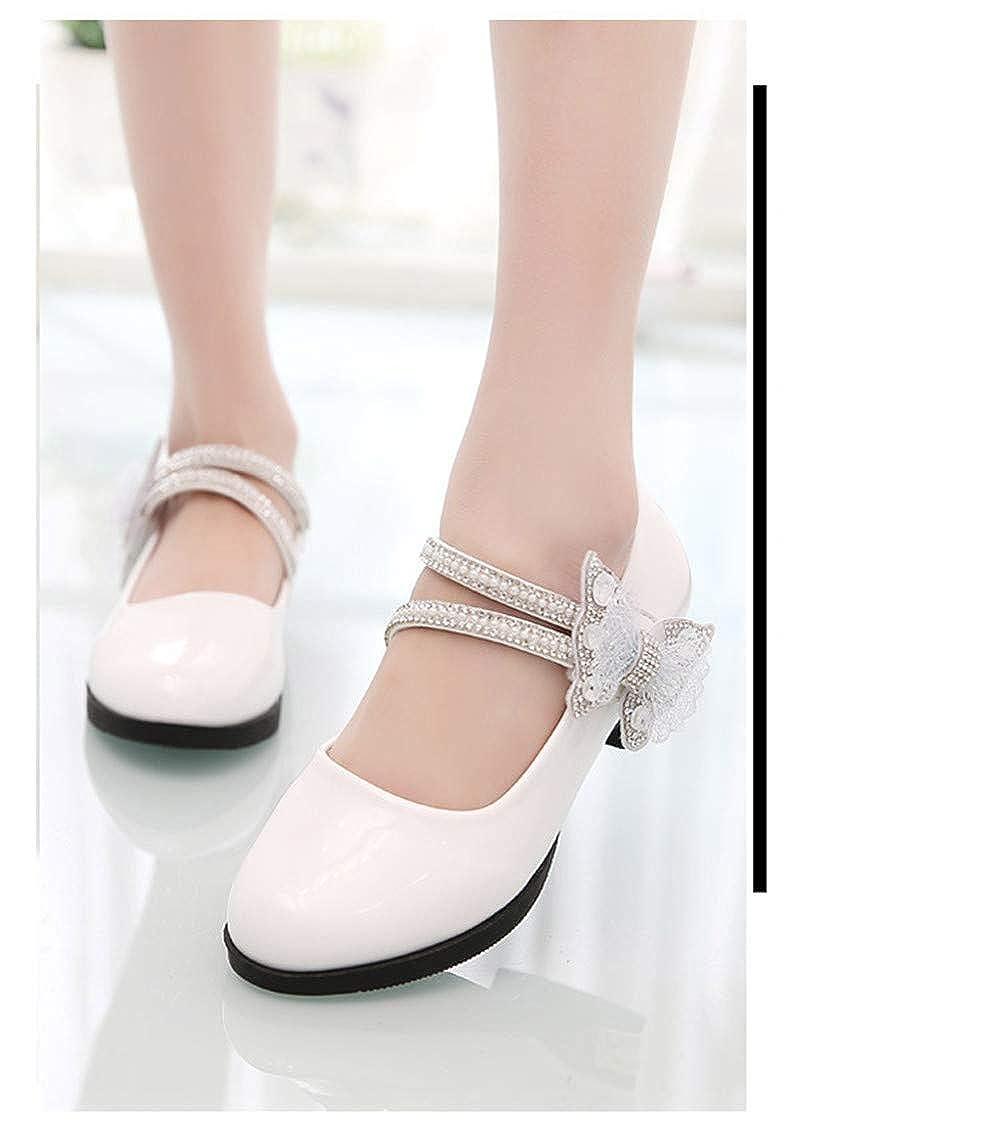 MODEOK Girl Round-Toe Sparkle Ballet Ballerina Flat Shoes Toddler//Little Kid//Big Kid