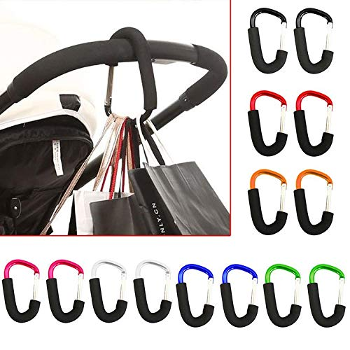 Lynn025Keats Buggy Clips Coloured Large Pram Pushchair Shopping Bag Hook Mummy Carry Clip