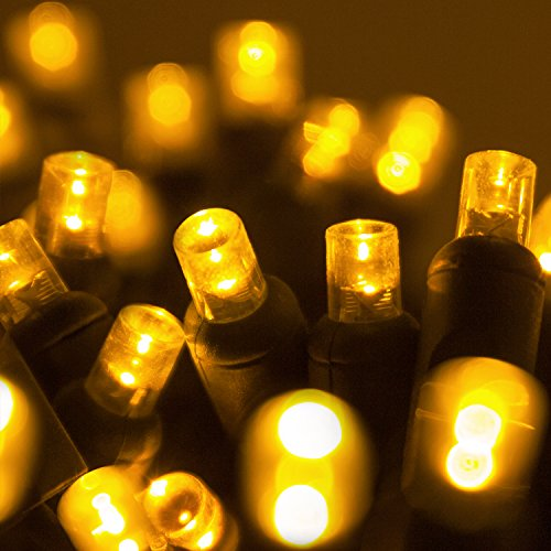 Gold Led Christmas Tree Lights in US - 8