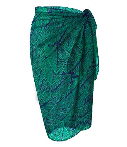 LIENRIDY Womens Chiffon Swimwear Plus Size Bathing Suit Cover Ups Beach Sarong Wrap 107-8-S-L