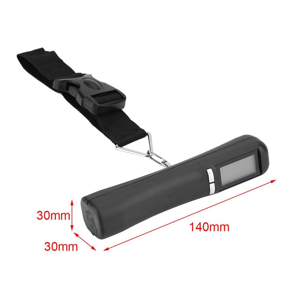 Fdit Balance Electronique Voyage Portable De Poche /Électronique LCD Affichage Num/érique Bagage Valise Sac /Échelle Nouveau Noir