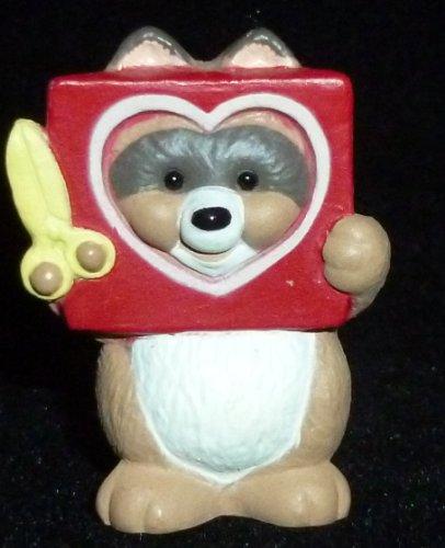 Hallmark Merry Miniature Valentine's Day Raccoon With Cutout Heart Figurine