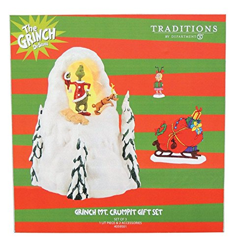 Department 56 Grinch Villages Mt. Crumpit Holiday Lit House Set, 8.38''