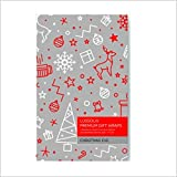 """Premium Gift Wrapping Sheets 4 Designs X 5 Sheets (20 Wrapping Sheets) Size 17""""x 24"""" - Theme Christmas Eve (90 Cents per Sheet)"""