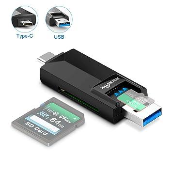 Eletrand Tipo C Lector Tarjetas 2 En 1 USB 3.0 Lector Tarjeta de Memoria Lectura para Micro SD, TF, SDXC, SDHC con Función OTG Samsung S10/S9/S8, ...