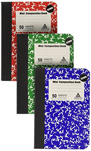 Mini Composition Book, Note Pad, 3 Pack in