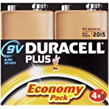 Duracell Plus MN1604 - Pila alcalina de 9 V
