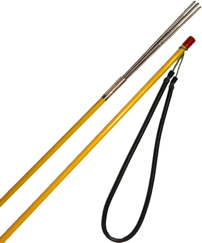 Travel Fiberglass Spearfishing Pole Spear with 3 Barbless Prongs Paralyzer Tip Cressi POLE SPEAR Cressi Quality since 1946