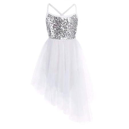 Faldas de danza para niña, Niñas Brillantes Lentejuelas Camisola ...