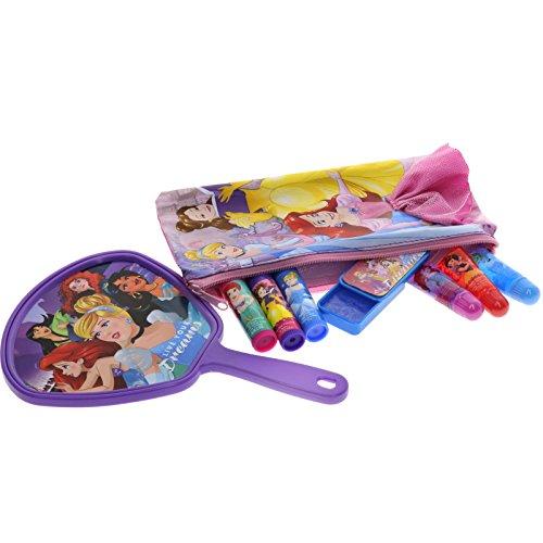 51Au6dbgINL - TownleyGirl Disney Princess Cosmetic Set with Nail Polish, Lip Gloss, Press-On Nails, Sandals, Toe Separators, and More
