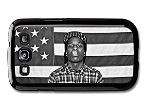AMAF ? Accessories ASAP Rocky Rapper Portrait Smoking with American Flag case for Samsung Galaxy S3