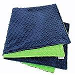MEG-Original-Navy-Blue-Lime-Green-Minky-Dot-Baby-Blanket-972