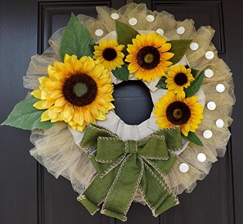 Sunflowers wreath Wonderful Unique Handmade - Samara- A perfect GIFT !