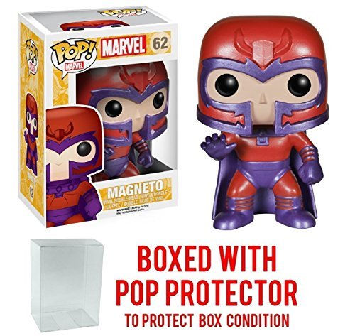 - Funko Pop! Marvel: X-Men - Magneto Vinyl Figure (Bundled with Pop BOX PROTECTOR CASE)