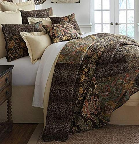 Noble Excellence Tara 3 Piece Full/Queen Quilt Set - Animal Paisley Patchwork