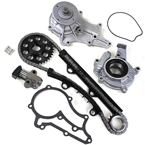 CNS TK027B-1WPOP Brand New (98 LINKS - SINGLE ROW) Timing Chain Kit + Water Pump Set + Oil Pump Set for