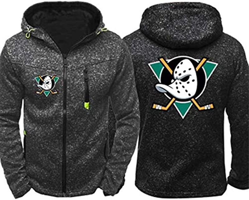 ZBYL Lustige Kapuzenpullover Männer Pullover Jacke - Hockey-Fans Pittsburgh Penguins Training Wear Frühjahr/Sommer-Cardigan mit Reißverschluss Oberbekleidung Sportbekleidung [2020]: Küche & Haushalt