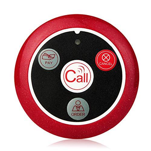 Retekess T117 Wireless Caregiver Pager Receiver Restaurant Service Waiter Calling Transmitter Call Button Nurse Alert Cafe Spar Club 433MHz for Retekess T128 (Only Pager Receiver) by Retekess