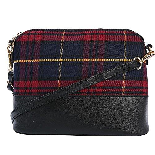 KOBWA Casual Bags Small Bag Handbag Women Shoulder Messenger Burgundy Vintage Shell qrn0rOxw