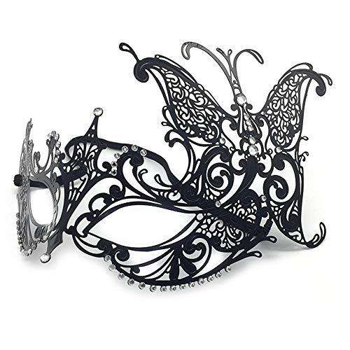 Makeup Dance Venice Cosplay Metal Eyewear Party Half Face Mask Halloween Celebration Masquerade Half Face Mask Props Female -