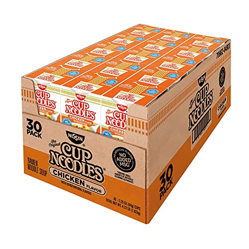 Nissin Cup Noodles, Chicken Flavor 2.25 oz ea, 30 ct. A1 - Ramen Cup Noodles