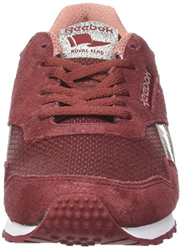 Reebok Damen Royal Ultra SL Sneaker Mehrfarbig (Rugged Maroon / Sleek Metallic / Sandy Rose / White)