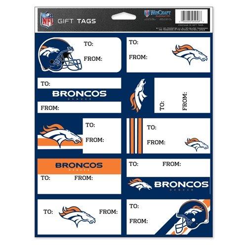 輝く高品質な NFL Denver B00DU23QEW Denver Broncosギフトタグ、チームカラー、1サイズ NFL B00DU23QEW, モンヴェール農山:96028a17 --- arianechie.dominiotemporario.com