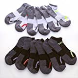 HEAD Men's Athletic Socks, Multicolor, 6-12.5 (10-Pack)