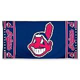 """MLB Cleveland Indians Fiber Beach Towel, 9lb/30 x 60"""""""