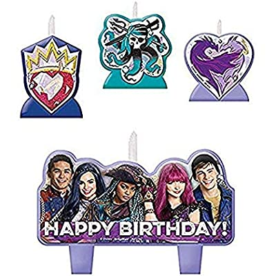 amscan Disney Descendants 2 Birthday Candle Set: Toys & Games