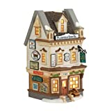 Department 56 New England Village Plainfield Sign Co. Lit House, 7.21 inch