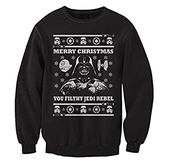 Amazon.com: FreshRags Star Wars Parody Vader Ugly Christmas ...