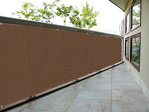 (Eden's Decor Customizable Privacy Screen Mesh Windscreen For Backyard Deck, Patio, Balcony, Pool, Porch, Fence, Railing, Gardening (40