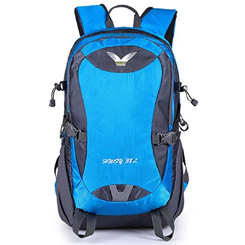 ZC&J Mochila al aire libre, impermeable anti-rayaduras práctico resistente al desgaste de alta calidad al aire libre mochila deportiva, multiusos hombres y mujeres mochila de viaje universal,E,38L A