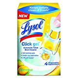 Lysol Automatic Toilet Bowl Cleaning Click Gel, Citrus Scent, 4 Count (Pack of 5)