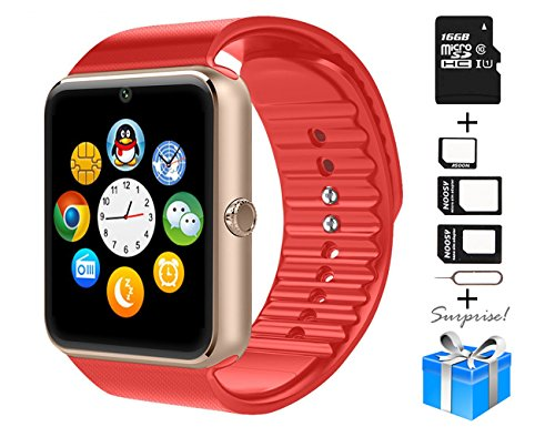 A1 Smart Watch For Iphone Android Cell phone 1.54 inch SIM Card_red - 1