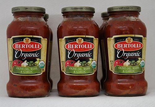 Bertolli - Olive Oil, Basil, & Garlic Organic Sauce 24 oz - 6 Pack (Pasta Sauce Tomato Garlic)