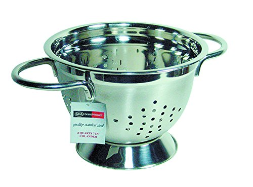 Grant Howard Stainless Steel Elegant Small Colander, 7, Silver 7 50308