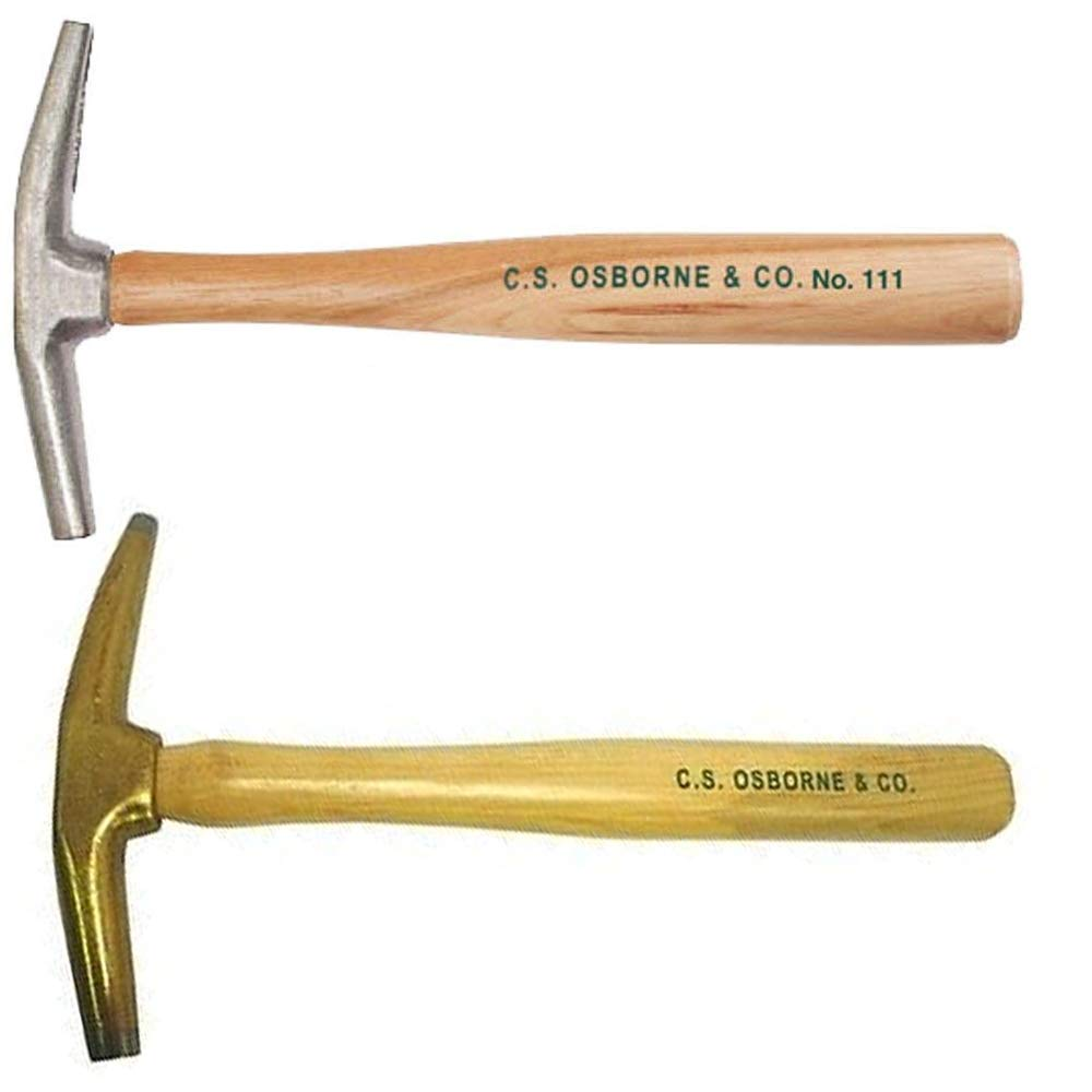 C.S. Osborne #33 7oz Bronze & #111 Light-weight Split Head Magnetic Tipped Hammer Upholstery