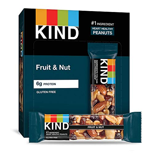 KIND Bars, Fruit & Nut, Gluten Free, Low Sugar, 1.4 Ounce Bars, 12 Count (Packaging May Vary)