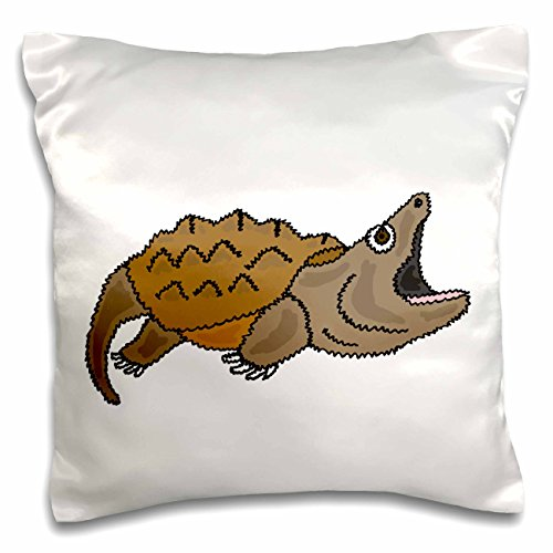 3D Rose Funny Snapping Turtle Original Art Pillow Case, 1...