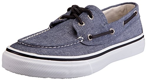 Sperry Bahama Canvas, Mocassini da uomo Chambray nero
