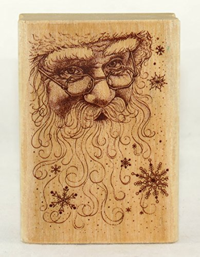 Holiday Santa Wood Mounted Rubber Delta Stamp