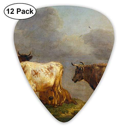 Classic Guitar Pick (12 Pack) Cattles in Meadow Paulus Player's Pack for Electric Guitar,Acoustic Guitar,Mandolin,Guitar Bass -