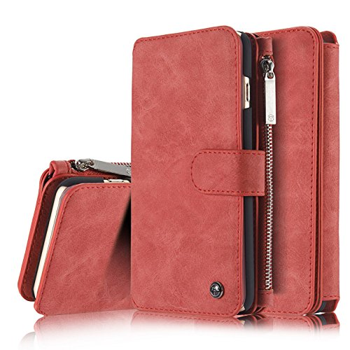 Price comparison product image KingTo Wallet Case for iPhone Xs Max,  PU Leather Cover Detachable Magnetic Shockproof Protective Folio Cover with Credit Card Holder Slot and Money Pocket