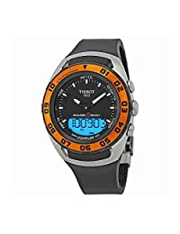 Tissot T-Touch Sailing Touch Multi-Function GMT Perpetual Calendar Analog Digital Alarm Watch - Chronograph stopwatch, Countdown, Compass, Black Rubber Band Luminous Swiss Watch T056.420.27.051.02