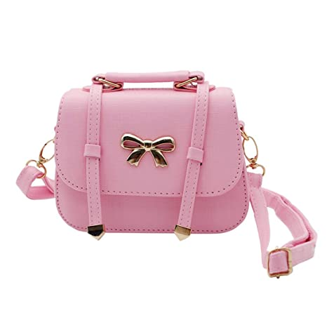 15ef5b74df Scheppend Fashion Little Girls Handbag Kids Shoulder Bag Cross Body  Dual-purpose Purse for Children Toddler Baby Girls (Pink Bowknot)   Amazon.co.uk  Baby